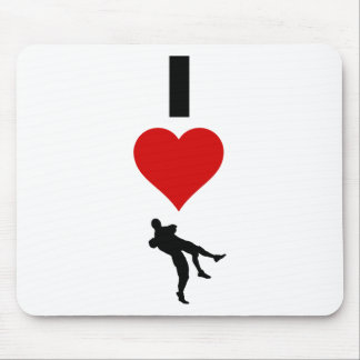 I Love Wrestling (Vertical) Mouse Pad