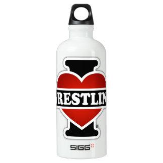 I Love Wrestling Water Bottle