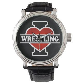 I Love Wrestling Wristwatch