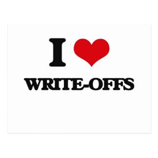 I love Write-Offs Postcard