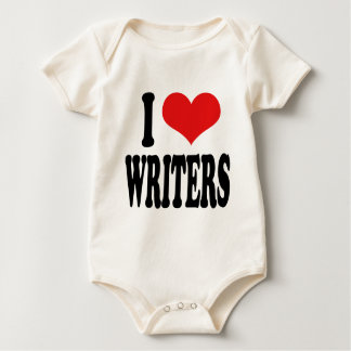 I Love Writers Baby Bodysuit