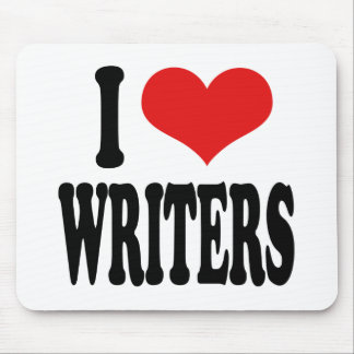 I Love Writers Mouse Pad