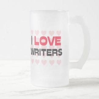 I LOVE WRITERS COFFEE MUGS