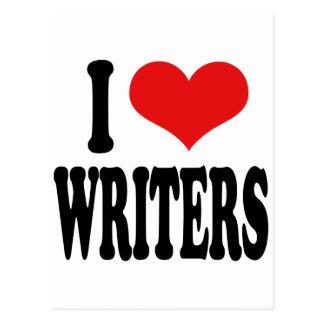 I Love Writers Postcard