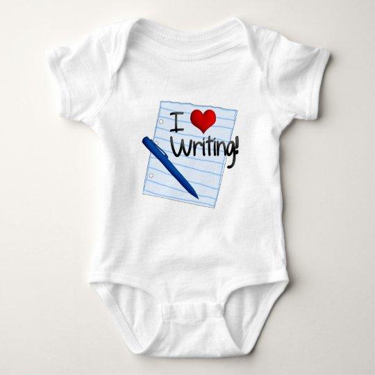 I Love Writing Baby Bodysuit