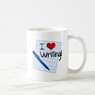 I Love Writing Coffee Mug