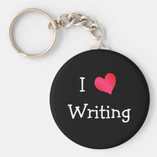I Love Writing Keychain