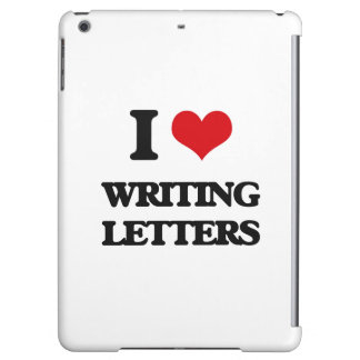 I love Writing Letters iPad Air Cover