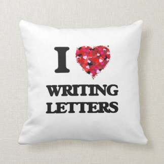 I love Writing Letters Pillows