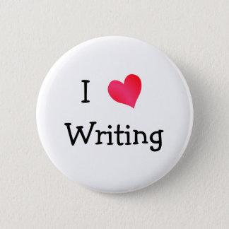I Love Writing Pinback Button