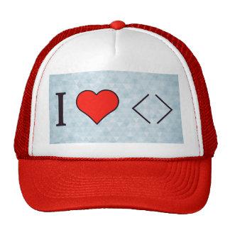 I Love Writing Programs Trucker Hat