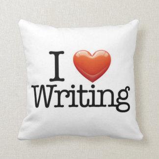 I Love Writing White Throw Pillow