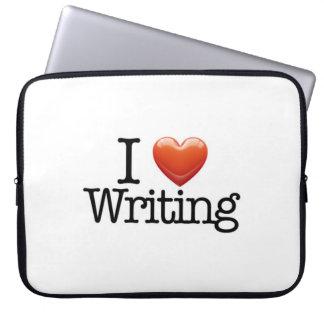 I Love Writing Zippered Laptop Sleeve