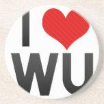I Love WU Drink Coasters
