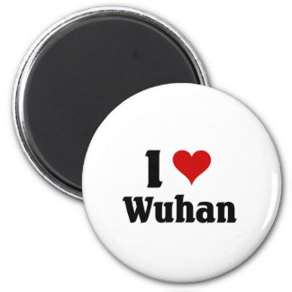 I love Wuhan, China 2 Inch Round Magnet