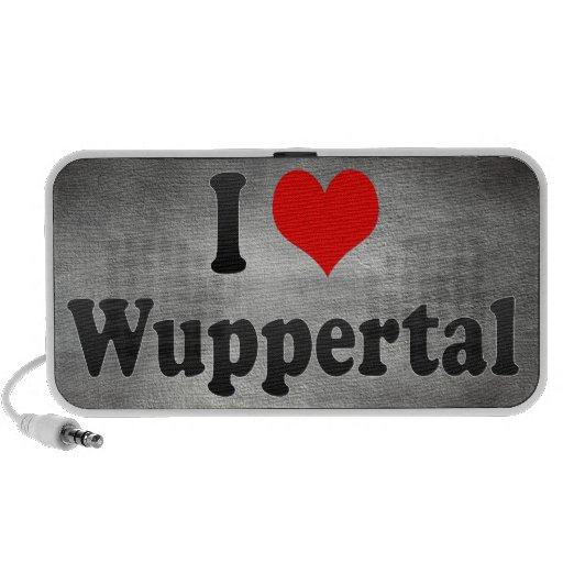 I Love Wuppertal, Germany Mp3 Speakers