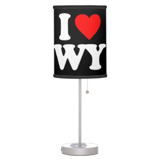 I LOVE WY TABLE LAMP
