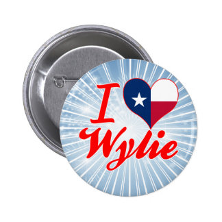 I Love Wylie, Texas Pinback Buttons