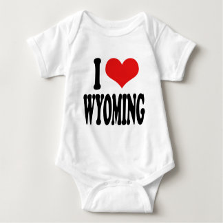 I Love Wyoming Baby Bodysuit