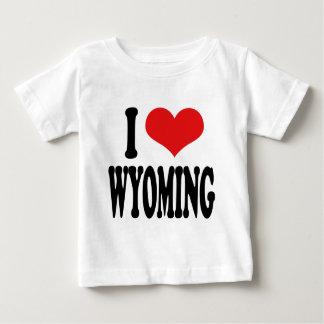 I Love Wyoming Baby T-Shirt