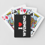 I LOVE WYOMING BICYCLE PLAYING CARDS