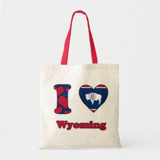 I love Wyoming Budget Tote Bag