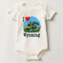 I Love Wyoming Country Taxi Baby Bodysuit