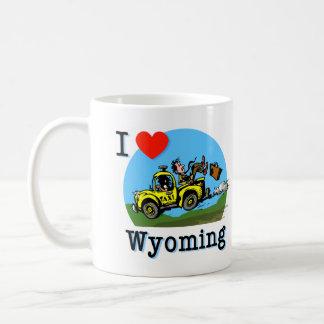 I Love Wyoming Country Taxi Coffee Mug