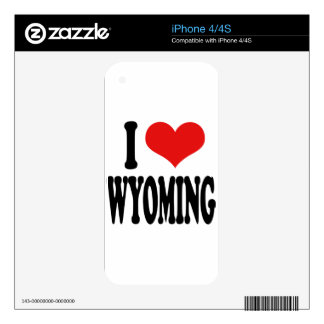 I Love Wyoming Decal For iPhone 4
