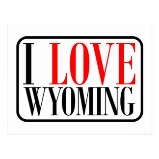 I Love Wyoming Design Postcard
