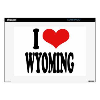 I Love Wyoming Laptop Skin
