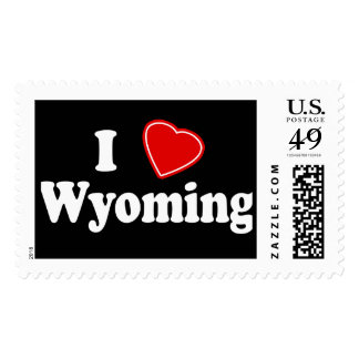 I Love Wyoming Stamps