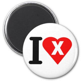 I-LOVE-X. 2 INCH ROUND MAGNET