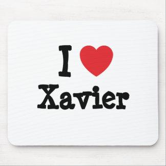 I love Xavier heart custom personalized Mouse Pad