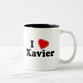 I Love Xavier Two-Tone Coffee Mug