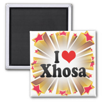 I Love Xhosa 2 Inch Square Magnet
