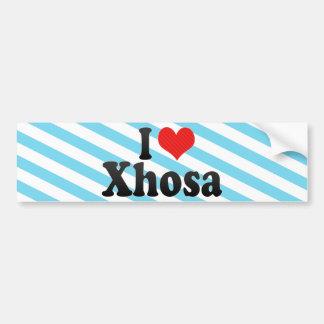 I Love Xhosa Car Bumper Sticker