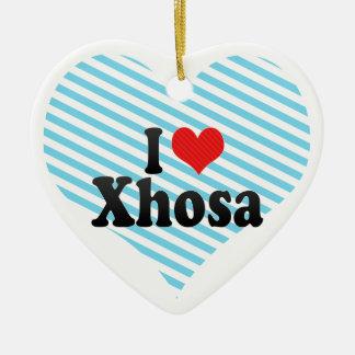 I Love Xhosa Double-Sided Heart Ceramic Christmas Ornament