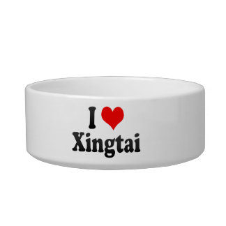 I Love Xingtai, China Cat Bowl
