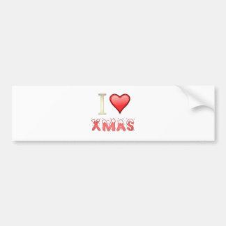 I Love Xmas Bumper Sticker