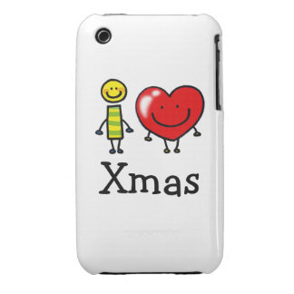 i love Xmas iPhone 3 Cover