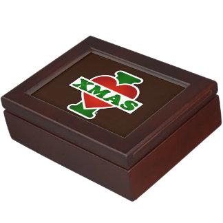 I Love Xmas Keepsake Box