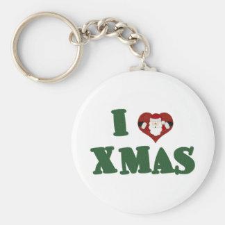 I Love Xmas Key Chain