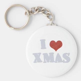 I Love Xmas Key Chains