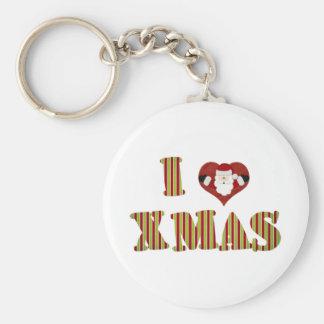 I Love Xmas Keychain