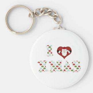 I Love Xmas Keychains