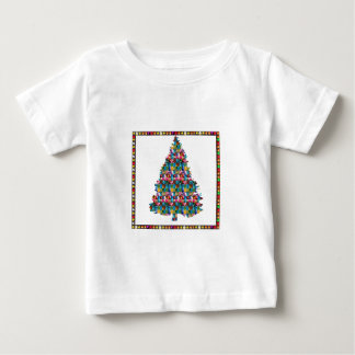 I LOVE XMAS : TREE jadded with PEARL JEWEL GEMS Baby T-Shirt