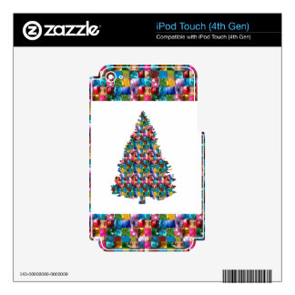 I LOVE XMAS : TREE jadded with PEARL JEWEL GEMS iPod Touch 4G Skins