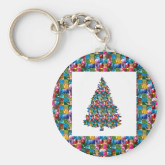I LOVE XMAS : TREE jadded with PEARL JEWEL GEMS Keychain