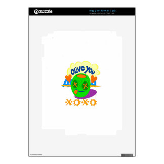 I Love XOXO Africa Decals For iPad 2